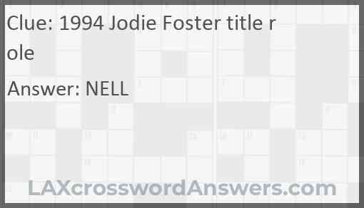 1994 Jodie Foster title role Answer