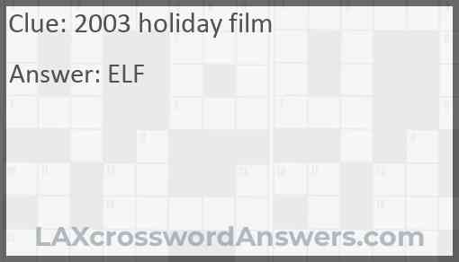 2003 holiday film Answer