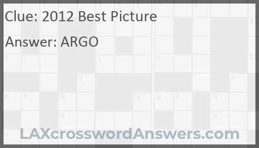 2012 Best Picture Answer