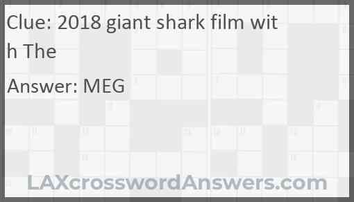 2018 giant shark film with The Answer