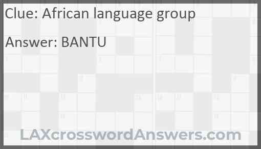 African language group Answer