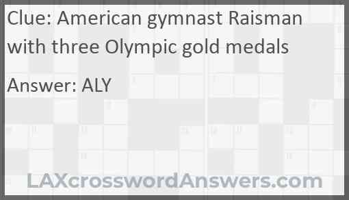 American gymnast Raisman with three Olympic gold medals Answer
