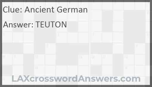 Ancient German Answer