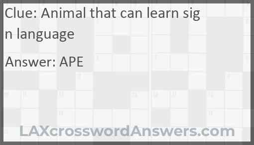 Animal that can learn sign language Answer
