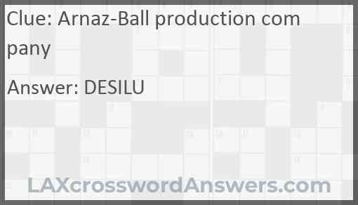 Arnaz-Ball production company Answer