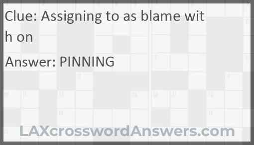 Assigning to as blame with on Answer