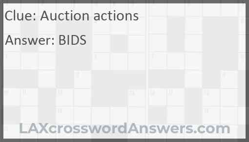 Auction actions Answer