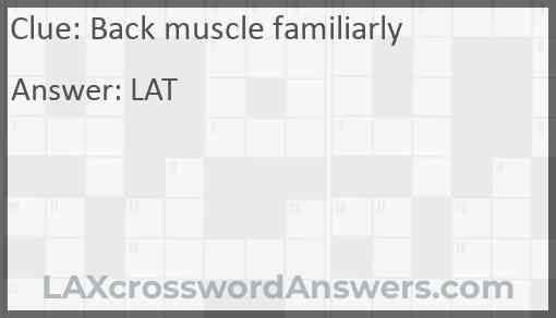Back muscle familiarly Answer