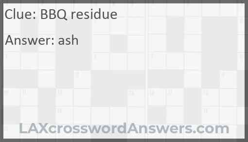 BBQ residue Answer