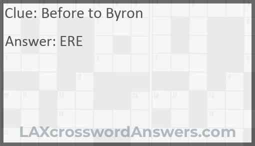 Before to Byron Answer