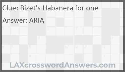 Bizet's Habanera for one Answer