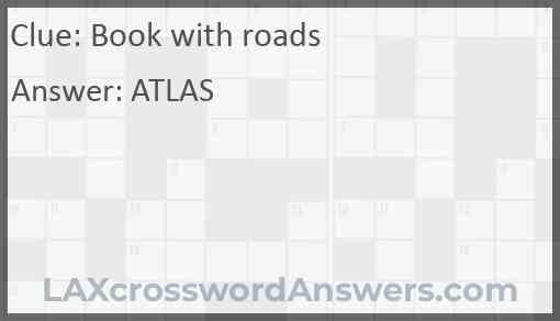 Book with roads Answer