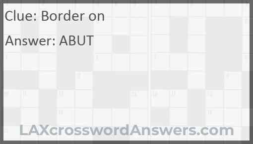 Border on Answer