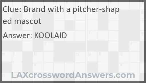 Brand with a pitcher-shaped mascot Answer