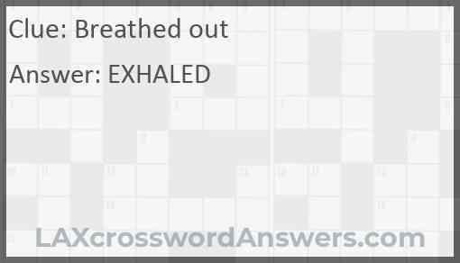 Breathed out Answer