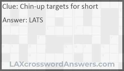 Chin-up targets for short Answer