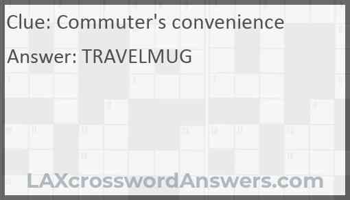 Commuter's convenience Answer