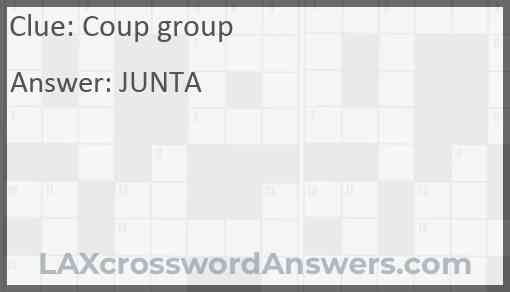 Coup group Answer
