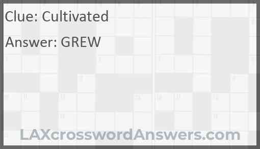 Cultivated Answer