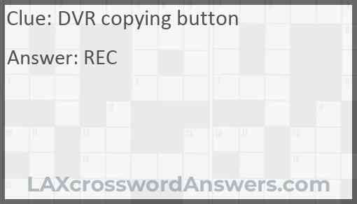 DVR copying button Answer