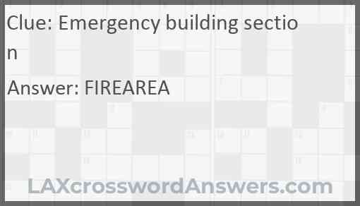 Emergency building section Answer