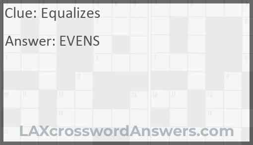 Equalizes Answer
