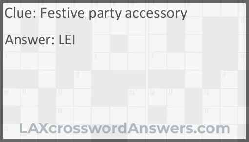 Festive party accessory Answer