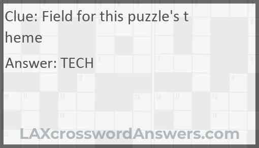 Field for this puzzle's theme Answer