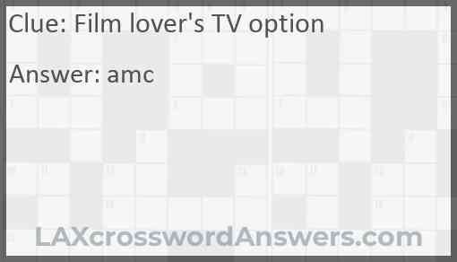 Film lover's TV option Answer