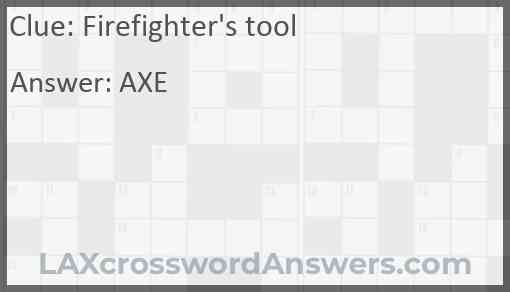 Firefighter's tool Answer