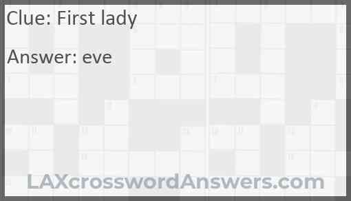 First lady Answer