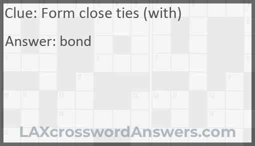 Form close ties (with) Answer