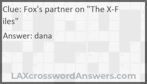 """Fox's partner on """"The X-Files"""" Answer"""