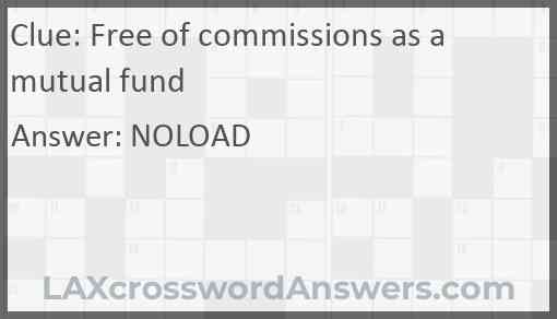 Free of commissions as a mutual fund Answer