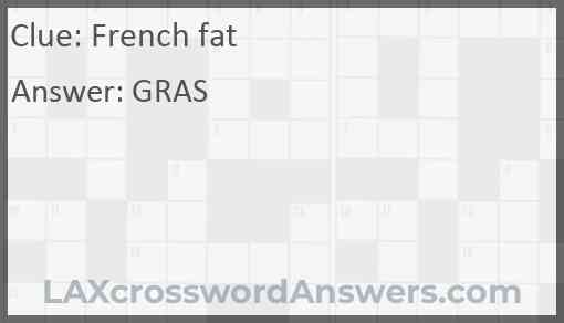 French fat Answer