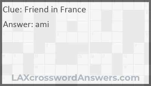 Friend in France Answer