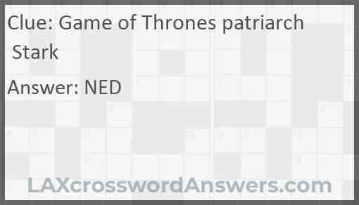 """""""Game of Thrones"""" patriarch Stark Answer"""