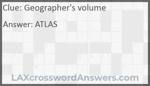 Geographer's volume Answer