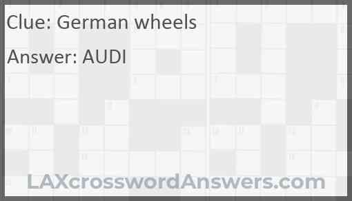 German wheels Answer