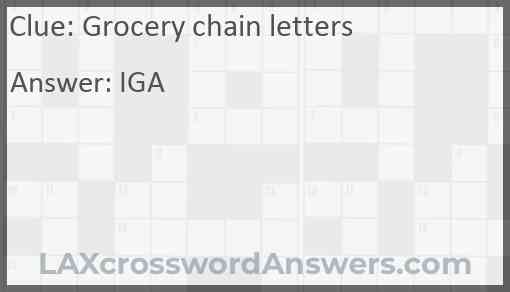 Grocery chain letters Answer