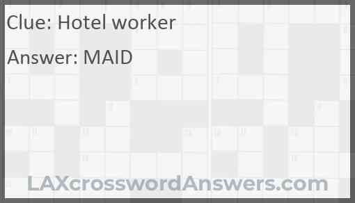 Hotel worker Answer