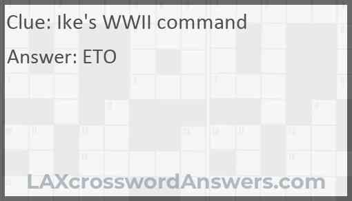 Ike's WWII command Answer