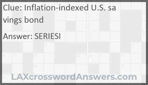 Inflation-indexed U.S. savings bond Answer