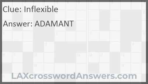 Inflexible Answer
