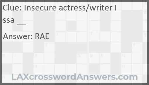 Insecure actress/writer Issa __ Answer