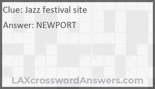 Jazz festival site Answer