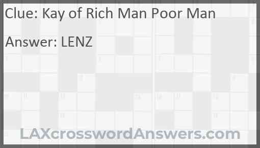 Kay of Rich Man Poor Man Answer