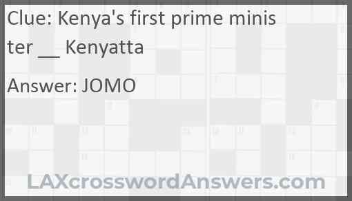 Kenya's first prime minister __ Kenyatta Answer