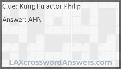 Kung Fu actor Philip Answer
