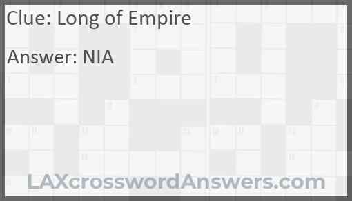 Long of Empire Answer